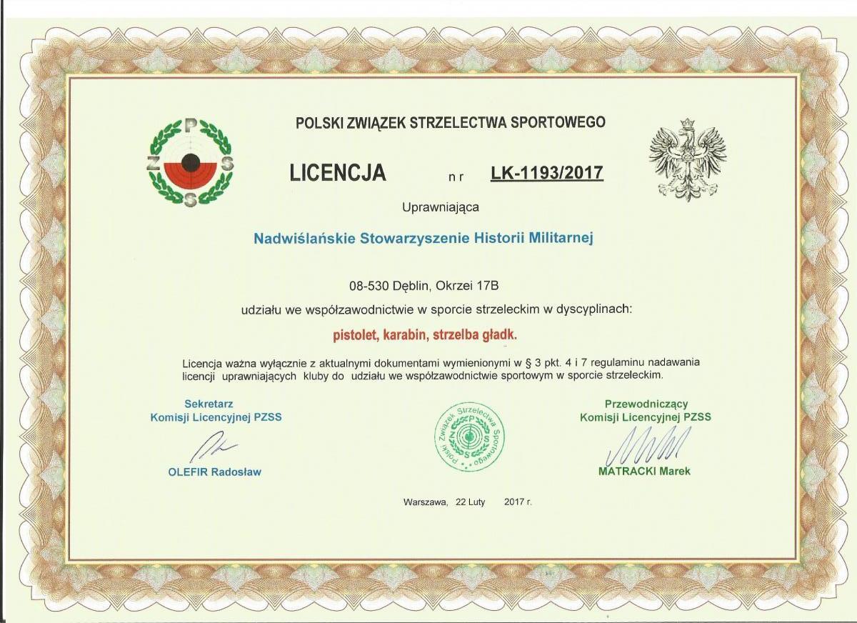 Lcencja NSHM 2017